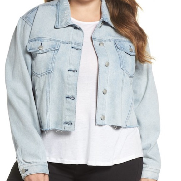 63498294dacdc Glamorous Crop Denim Jacket (Plus Size 16W US)
